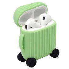 Custodia guscio silicone cover TROLLEY VIAGGIO valigia per Apple AirPods 1 2016