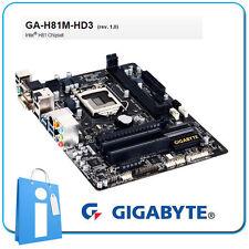 Plaque base mATX H81 GIGABYTE GA-H81M-HD3 Douille 1150 sans Accessoires ni