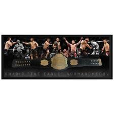 KHABIB NURMAGOMEDOV THE EAGLE HAND SIGNED FRAMED UFC CHAMPION BELT MCGREGOR GSP