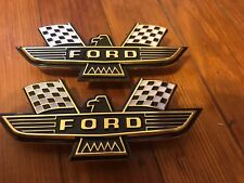 "1960's FORD GALAXIE PERFORMANCE FENDER OR AIR CLEANER RACING BIRD EMBLEMS ""FORD"""