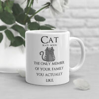 Funny Cat Coffee Mug, Pet Lover, Cute Cat, Gift For Her, Him, Birthday, Cup