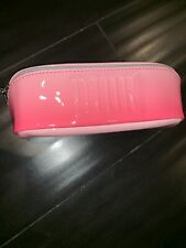DIOR Pink Cosmetic Makeup Patent Bag/Pouch Zippered CD Logo New