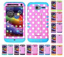 KoolKase Hybrid Cover Case for Motorola Electrify M XT901 - Polka Dots Pink