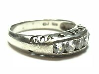 Beautiful Ladies Sterling Silver CZ 'I Love You' Ring - Size 7.75