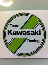 "Kawasaki Vintage round decal 4 3/8 "" Tecate KX KLR 250 200 125 500 KZ900 KDX"