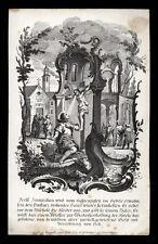 santino incisione 1800 S.FRANCESCO D'ASSISI DAVANTI AL CROCIFISSO DI S.DAMIANO