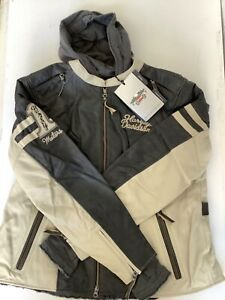 Harley Davidson Women's DUNDEE Off White Leather Jacket 3in1 97177-14VW 2W