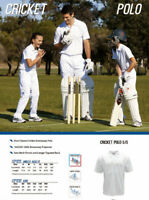 New Kids Short Sleeve Cricket Polo with Side Mesh Panels and Longer Tapered Back