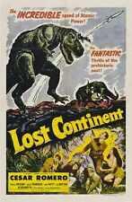 Continente perdido 1951 Cartel 01 Letrero De Metal A4 12x8 Aluminio