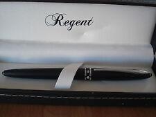 Stylo roller noir mât avec brillants Regent