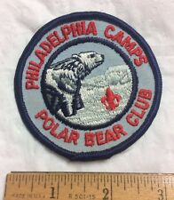 Philadelphia Council Camps Polar Bear Club BSA Boy Scouts Embroidered Patch