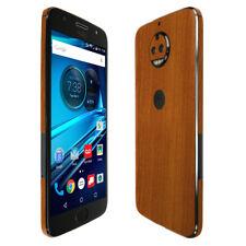 Skinomi TechSkin - Light Wood Skin & Screen Protector for Moto G5s Plus