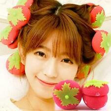 6pcs Rollers Curlers Strawberry Balls Hair Care Soft Sponge Lovely DIY Tool G8