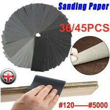 36/45X Sandpaper Mixed Wet And Dry Waterproof 120-5000 Grit Sheets Assorted Wood