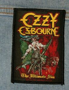 Ozzy Ozbourne The ultimate sin sew  on patch retro Official merchandise