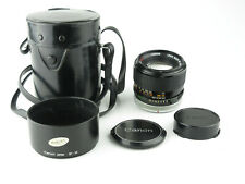 Canon Lens FD 100mm 1:2.8 S.S.C. Objektiv lens 8 blades + hood & case