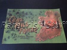 Cead Mile Failte - Irish Welcome Shamrock Ireland Home & Pub Poster Print