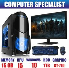 ULTRA FAST Gaming PC Bundle Intel Core i5 2300 16GB 1TB Windows 10 2GB GT710
