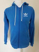 Adidas Originals Trefoil Hoodie Sweatshirt Blue Small 38 Chest