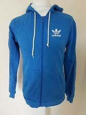 Adidas Originals Trefoil Hoodie Sweatshirt Blue Small 38 Chest