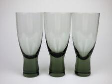 Holmegaard 3 vasos de cerveza de vidrio humo de Canadá por Lütken escandinavo 50s ølglas