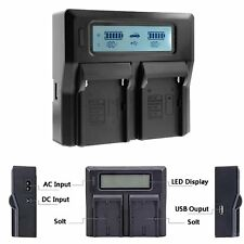 New LCD Camera Dual Battery Charger For SONY NP-FZ100 ILCE-9 A7RIII A7r3 A9 7RM3