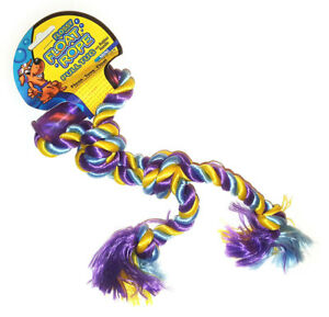 Mammoth Flossy Float Rope Twin Tug with Handle 31cm