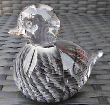 MARCOLIN ITALIAN DESIGN SWEDISH SIGNED DUCK SCULPTURE PAPERWEIGHT GORGEOUS!