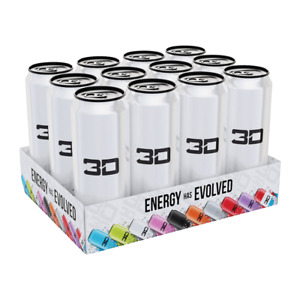 3D Energy Drink - White x 12 Tins (Full Case)