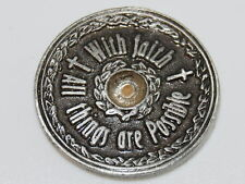 """MUSTARD SEED Pocket Coin Token Christian Religious Gift Scripture 1 1/16"""" pewter"""