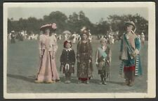 Postcard Poole Park Dorset fancy dress costumes Carnival 1914 RP by Mitchell