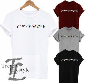 FRIENDS INSPIRED TRENDY GEEK PRINT  UNISEX  KIDS WOMEN COTTON T-SHIRT 4 COLORS