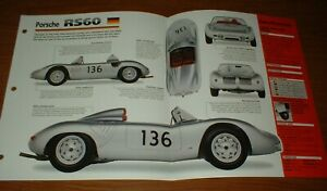 ★★1960 PORSCHE RS60 ORIGINAL IMP BROCHURE SPECS INFO 60 RACING RS 60★★