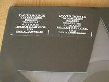 David Bowie Blackstar Clear Vinyl German Pressing Double Stickered