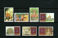 Thailand -- 4 used commemorative complete sets from 1996 -- 2 scans