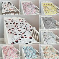 3 pc LUXURY COT/COT BED BABY BEDDING SET bumper quilt pillowcase animals forest