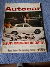 Autocar Magazine 27 August 1965 - 12 months with Cortina GT & Mini-Cooper S