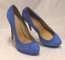 Beautiful ALDO Size 9.5 (40) M Blue Suede Leather X-High Stiletto Platform