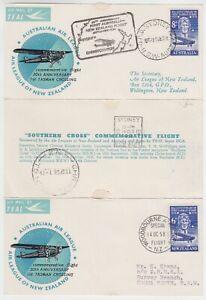 "1958 ""SOUTHERN CROSS"" TASMAN CROSSING 30th ANNIV FLIGHT CARD (CK185)"