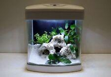 Nano Aquarium XCUBE in weiß Komplettaquarium +LED Beleuchtung +Mondlicht +Filter