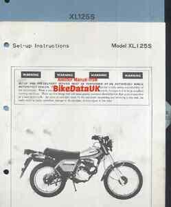 Honda XL125S (1979 >>) Genuine Factory PDI Set-Up Manual XL 125 S Twinshock CX02