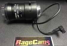 "8-50mm C mount CAMERA LENS 1/2"" 2 mega pixel DC Auto Iris F1.6 Long Range Zoom"