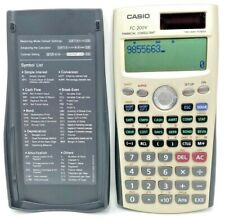 Casio FC-200V Financial Calculator 2 Way Power & 4 Line Display Tested & Works