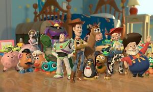 Toy Story - Disney Cartoon Woody And Buzz Kids Wall Art Framed Canvas Pictures