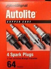 Autolite 64 Spark Plug - Resistor Copper- Box of 4