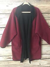 Vintage Newport News XL Ultra Suede Reversible Cape Kimono Red/Black Outerwear