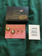 *** Avon Faux Pearl Earring Duo Jewelry for SENSITIVE Skin (1995) - NOS ***