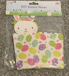4 EASTER TREAT GIFT BOXES DISPLAY SWEETS CHOCOLATE CUTE BUNNY CHICKS CARDBOARD