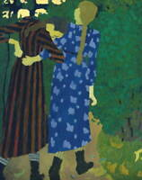 Edouard Vuillard Little Girls Strolling Poster Reproduction Giclee Canvas Print