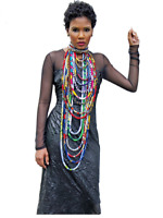 Women's 2019 African Ankara Necklace Wax Print Fabric Colorful Necklace Shawl